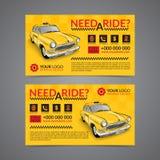 Plantilla de la disposición de tarjeta de la empresa de servicios de la recogida del taxi libre illustration