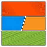 Plantilla de la disposición del espacio en blanco del estilo del arte pop del color de los tebeos libre illustration