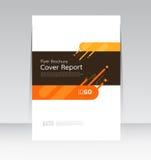Plantilla de la disposición del informe de la cubierta del diseño del extracto del vector Imagen de archivo