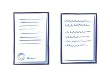 Plantilla de la documentación del negocio, letra de Web App ilustración del vector
