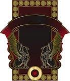 Plantilla de la etiqueta del coñac o del vino Imagen de archivo libre de regalías