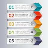 Plantilla de la flecha del papel del diseño del infographics del negocio Fotos de archivo