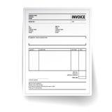 Plantilla de la forma de la factura del impuesto del papel del unfill ilustración del vector