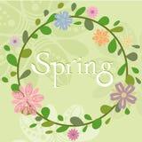Plantilla de la guirnalda del verano de la primavera libre illustration