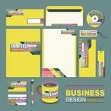 Plantilla de la identidad corporativa del negocio integrada por líneas y puntos Foto de archivo libre de regalías