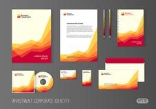 Plantilla de la identidad corporativa para la compañía de inversión ilustración del vector