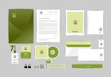 Plantilla de la identidad corporativa para su negocio J Imagen de archivo