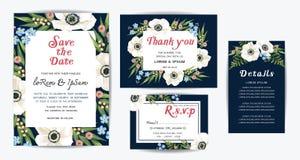Plantilla de la invitación de la boda foto de archivo libre de regalías
