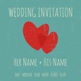 Plantilla de la invitación de la boda Fotografía de archivo