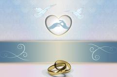 Plantilla de la invitación de la boda Imágenes de archivo libres de regalías