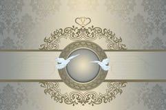 Plantilla de la invitación de la boda Foto de archivo