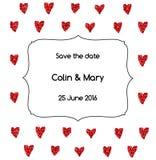 Plantilla de la invitación de la boda Imagenes de archivo
