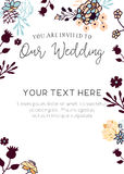 Plantilla de la invitación de la boda ilustración del vector