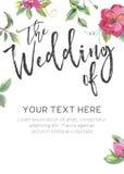 Plantilla de la invitación de la boda fotos de archivo libres de regalías