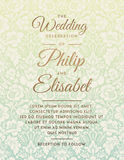 Plantilla de la invitación de la boda del vintage Foto de archivo
