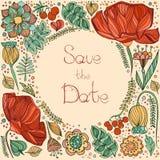 Plantilla de la invitación de la boda, invitación, sobre, gracias coche stock de ilustración