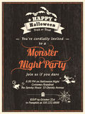 Plantilla de la invitación del aviador del partido de Halloween Imagen de archivo libre de regalías