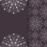 Plantilla de la invitación del vector en Lacy Pattern libre illustration