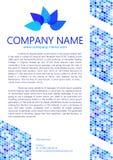 Plantilla de la letra de Water Design Blue Palette Company Imagenes de archivo