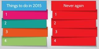Plantilla de la lista del doble de la resolución del Año Nuevo del vector Foto de archivo