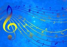 Plantilla de la música stock de ilustración