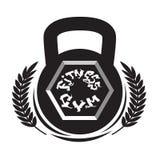 Plantilla de la muestra de Logo Modern Sport Gym Club del centro de aptitud aislada en el fondo blanco ilustración del vector