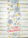 Plantilla de la Navidad con el recorte de papel EPS 10 Imagen de archivo