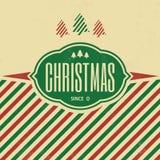 Plantilla de la Navidad del vintage ilustración del vector