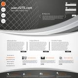 Plantilla de la oscuridad de los elementos del diseño web del sitio web Fotos de archivo libres de regalías