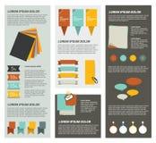 Plantilla de la página de Infographic ilustración del vector