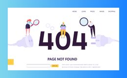 Plantilla de la página del aterrizaje del error del mantenimiento 404 La página no encontró bajo concepto de la construcción con  libre illustration