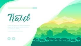 Plantilla de la página del aterrizaje del vector de la agencia de viajes libre illustration