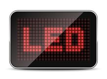 Plantilla de la pantalla del LED, ejemplo del vector Fotos de archivo libres de regalías