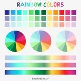 Plantilla de la pendiente del color del arco iris libre illustration