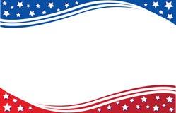 Plantilla de la postal de la bandera americana imagen de archivo libre de regalías