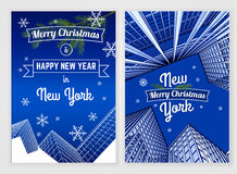 Plantilla de la postal del Año Nuevo Fotografía de archivo