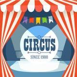 Plantilla de la postal del circo Foto de archivo