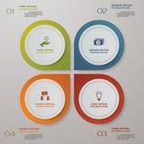 plantilla de la presentación del infographics de 4 pasos 4 pasos con el espacio para su text&data de la muestra libre illustration