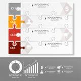 Plantilla de la presentación de Infographic del rompecabezas ilustración del vector