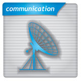 Plantilla de la presentación - muestra de la antena ilustración del vector