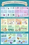 ¿Plantilla de la presentación qué a comer al amamantar? Las mejores comidas Fotos de archivo