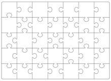 Plantilla de la rejilla de los rompecabezas Rompecabezas 24 pedazos stock de ilustración