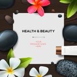 Plantilla de la salud y de la belleza Foto de archivo libre de regalías