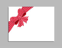 Plantilla de la tarjeta con el arco rojo Vector Fotografía de archivo