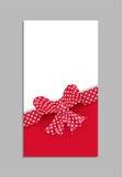 Plantilla de la tarjeta con el arco rojo Vector Imagen de archivo libre de regalías
