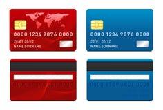 Plantilla de la tarjeta de crédito del vector Imágenes de archivo libres de regalías