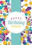 Plantilla de la tarjeta de cumpleaños ilustración del vector