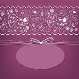 Plantilla de la tarjeta de Dayl de la tarjeta del día de San Valentín con la etiqueta, Imagen de archivo libre de regalías