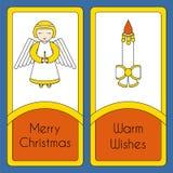 Plantilla de la tarjeta de felicitación de la Feliz Navidad libre illustration