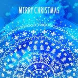 Plantilla de la tarjeta de felicitación de la Navidad y del Año Nuevo Imagen de archivo